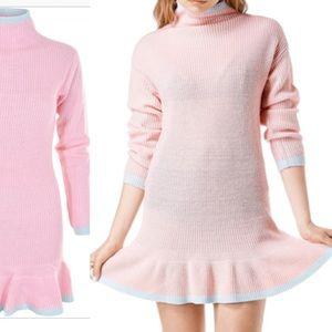Nwot Unif sold out mistral pastel knit aqua dress